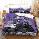 Ghost Bedding Sets Bed Set Duvet Cover Set Black Cartoon Bed Linen-Ghost Duvet Cover Set