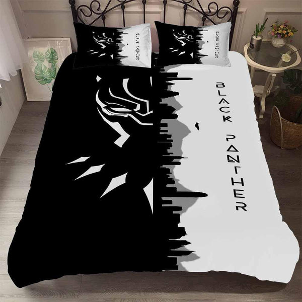 3D Customize Bedding Set Black Panther Queen Comforter Duvet Cover Set for Bedroom-Pink Panter Bed set-simphouse