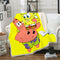 SpongeBob Square Pants Blanket Bedding Yellow Blanket Bedroom