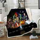 Star Wars Blanket 3D Customized Black Bedding Marvel Blanket Home Decor