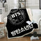 Bedroom BTS Blanket Black Bedding Blanket