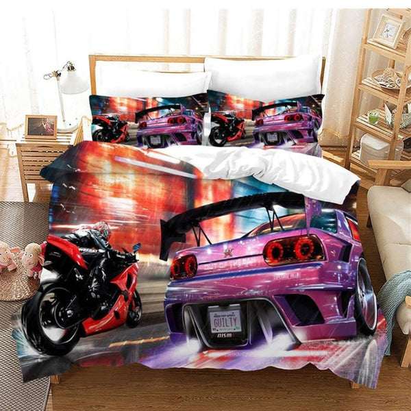 Luxury car Comforter bedline Sets Duvet Cover Set Bedding Set Girls Boys Children-Luxury car Duvet Cover Set