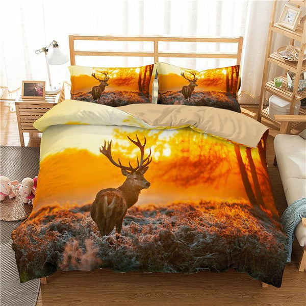 3D Animal Comforter Bedlinen Duvet Cover Deer Bedding Sets Duvet Cover Set Bedding Bed Set