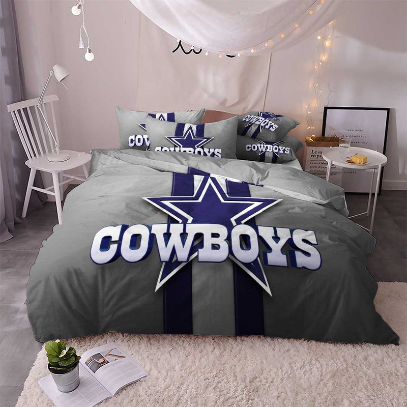 Dallas Cowboys Bedding Comforter Set 3D Customize Duvet Cover Set Bedroom-Dallas Cowboys Bedding-simphouse