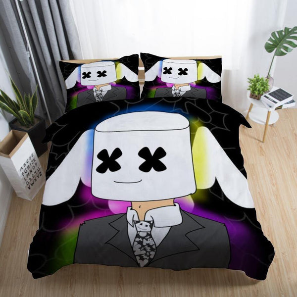DJ Marshmello Bedding Sets Quilt Cover Duvet Comforter Cover for Bedroom-DJ Marshmello Bed set-simphouse