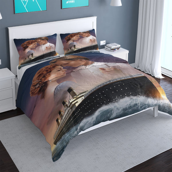 TITANIC 3d Printed Duvet Cover Set Bed Cover Comforter Bed Linen-Demon Slayer Duvet Cover Set
