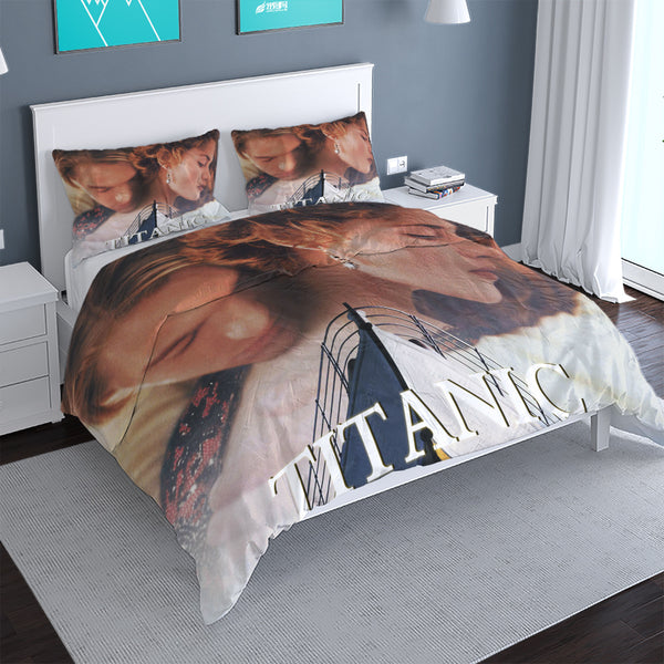 3d Printed TITANIC Duvet Cover Set Bed Cover Boys Girls Comforter Bed Linen-Demon Slayer Duvet Cover Set