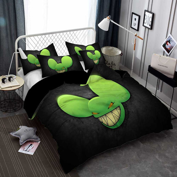 DJ Deadmau5 Duvet Cover Set Bedlinen Bed Set Bedding DJ Cartoon Comforter Set