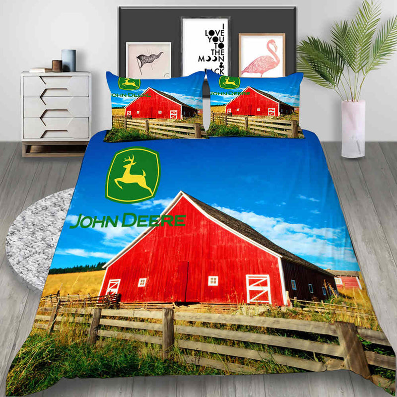 JOHN DEERE Bed Set 3d Customized Animal Comforter Set Duvet Cover Set