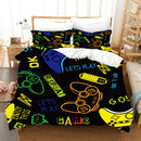HD Digital Print Comforter Set Bed Set Game handle Bedlinen Duvet Cover Set Bedding Sets