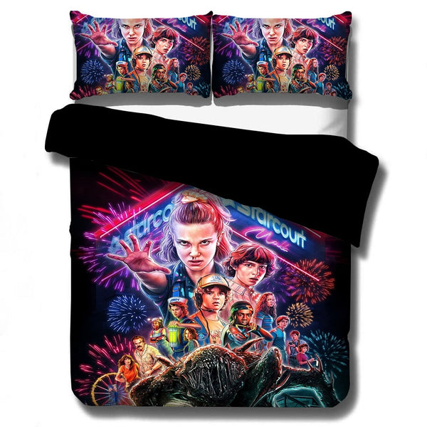 Stranger Things Bedding Set Duvet Covers Fiction Movies Comforter Set-simphouse