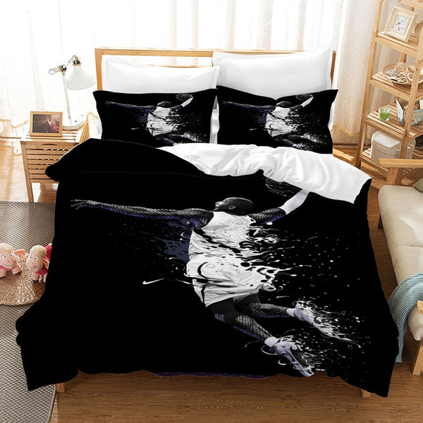 Kobe Bryant Bedding Set 3D Customize Duvet Cover Bedroom Bedlinen Pillowcases Comforter Bed Set Quilt-Covers-Kobe Bryant Bedding Set-simphouse