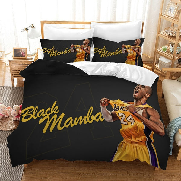 Kobe Bryant Bedding Set Basketball Duvet Cover Set Bedroom Set Bedlinen Comforter Bed Set Quilt-Covers-Kobe Bryant Bedding Set-simphouse