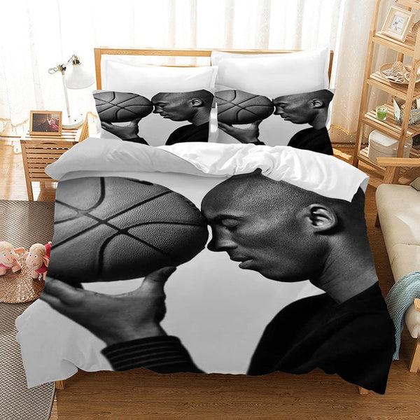 3D Customize Kobe Bryant Bedding Set Duvet Cover Set Bedroom Set Bedlinen Pillowcases Comforter Bed Set-Kobe Bryant Bedding Set-simphouse