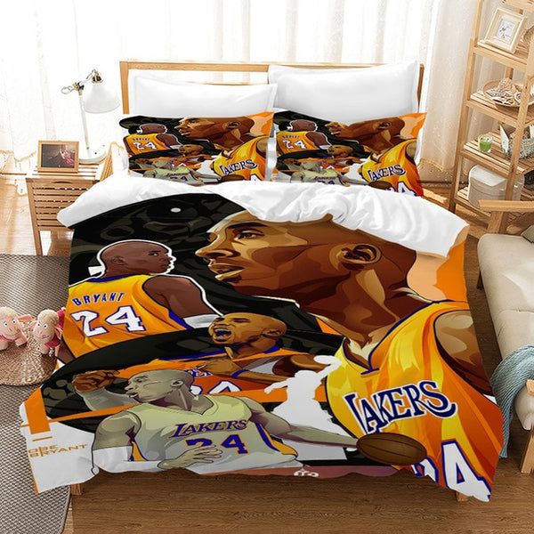 3D Customize Duvet Cover Set Kobe Bryant Bedding SetBedroom Set Bedlinen Pillowcases Comforter Bed Set-Kobe Bryant Bedding Set-simphouse