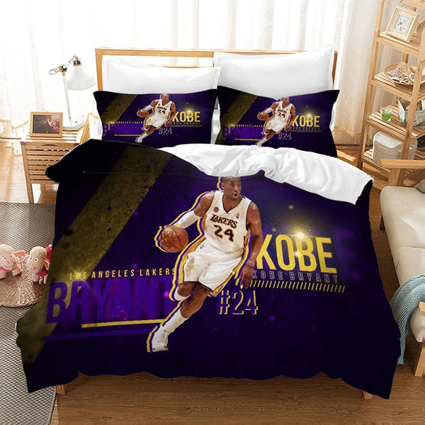 Kobe Bryant Bed Set Bedding Set 3D Customize Duvet Cover Set Bedroom Set Pillowcases Comforter Quilt-Covers-Kobe Bryant Bedding Set-simphouse