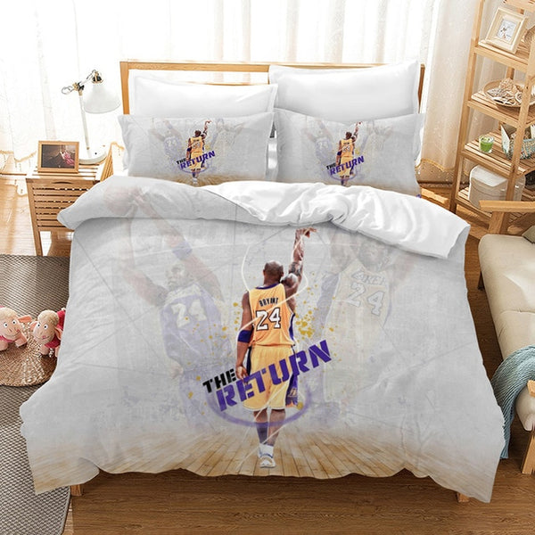 Kobe Bryant Bedding Set 3D Customize Duvet Cover Set Bedroom Set Bedlinen Pillowcases Comforter Bed Set Quilt-Covers-Kobe Bryant Bedding Set-simphouse