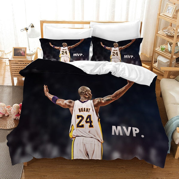 3D Customize Kobe Bryant Bedding SetDuvet Cover Set Bedroom Set Bedlinen Pillowcases Comforter Bed Set Quilt-Covers-Kobe Bryant Bedding Set-simphouse