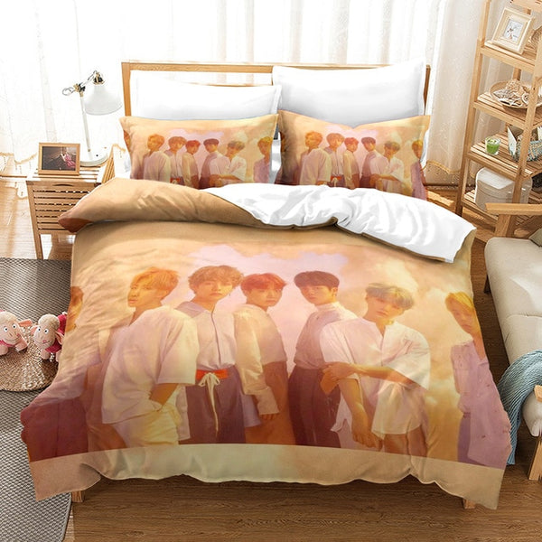 3D Printed BTS Pattern comforter set Cover Bedding Set sheet cover-BTS bedding set-simphouse