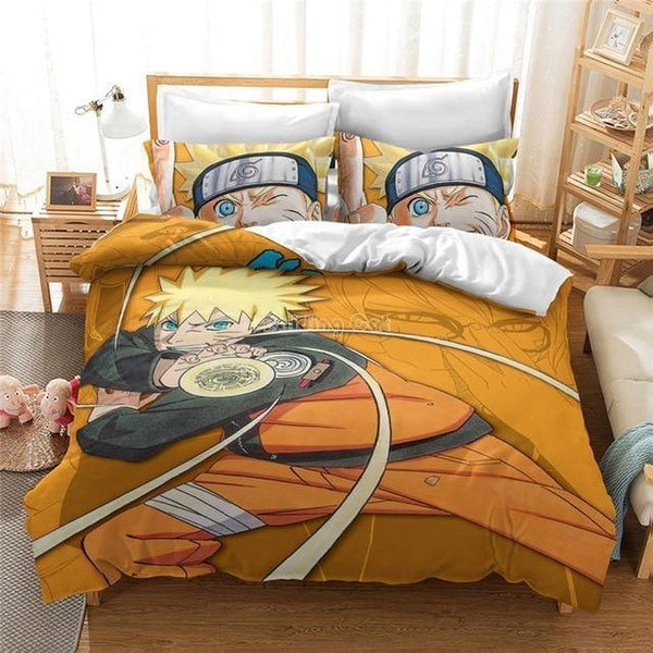 3D cartoon NARUTO Character Quilt Cover Set for kids Bedroom-NARUTO Duvet Cover Set-simphouse