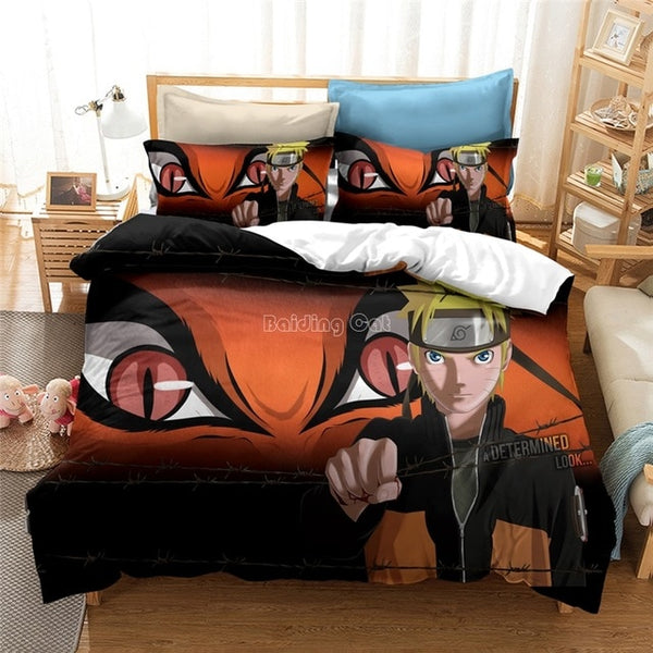 3D Luxury Bedding Set NARUTO Anime Printed Duvet Cover Set-NARUTO Bedding Set-simphouse