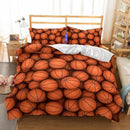 Basketball Bed Sheets 3D Design Bedding Set Ball Game King Queen Twin Size Comforter-Ball beding set-simphouse
