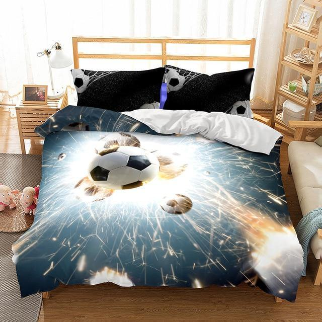 3D Basketball Printed Bedding Set Design Duvet Cover Sets King Ball Quilt Cover Set-Ball beding set-simphouse