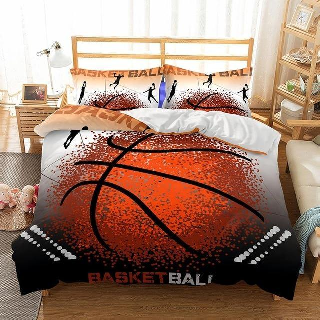 3D Basketball Printed Bedding Set Ball Duvet Cover King Queen Twin Size Game Comforter-Ball beding set-simphouse