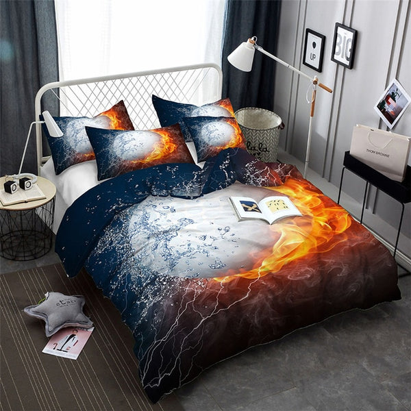 3DPrinted Basketball Printed Bedding Set King Duvet Cover Sets Twin Size Ball Game Queen Comforter Sheet-Ball beding set-simphouse