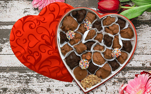 "SAY ""I LOVE YOU"" WITH A DELICIOUS BOX OF CHOCOLATES!"