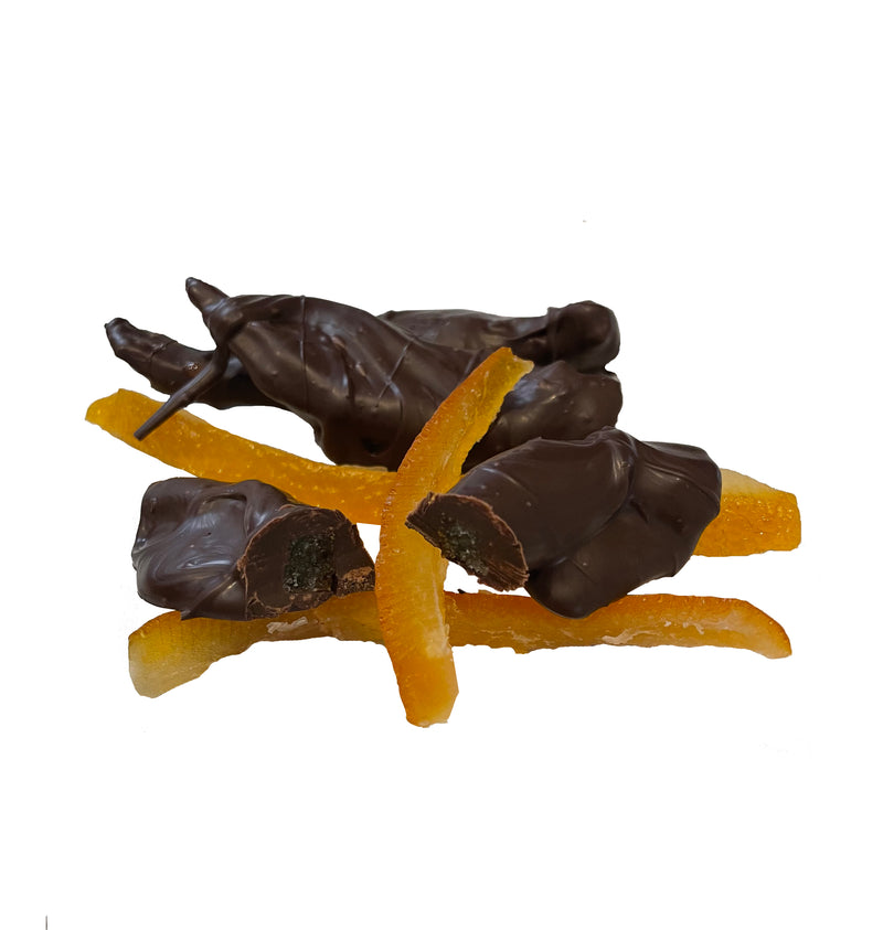 Dark Chocolate Covered Candied Orange Peel