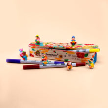 Load image into Gallery viewer, Müllerchen Wooden Pencil Case + ABT Pro Art Markers (12pc Set)