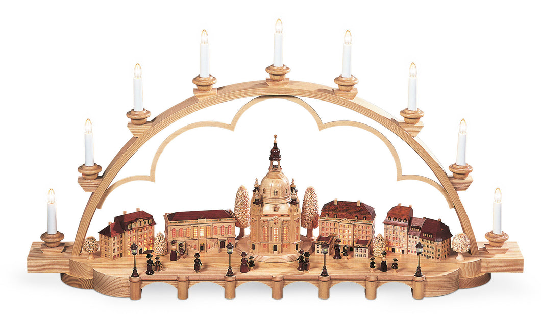 Candle arch old city of Dresden