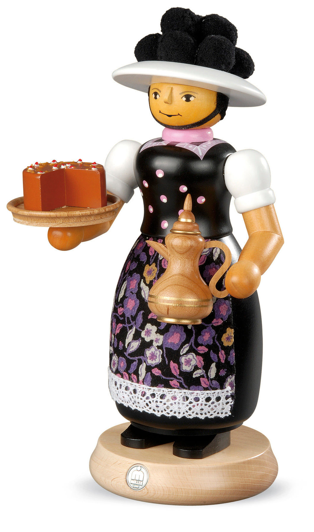 Smoking man, Black-Forest woman with smoking coffeepot