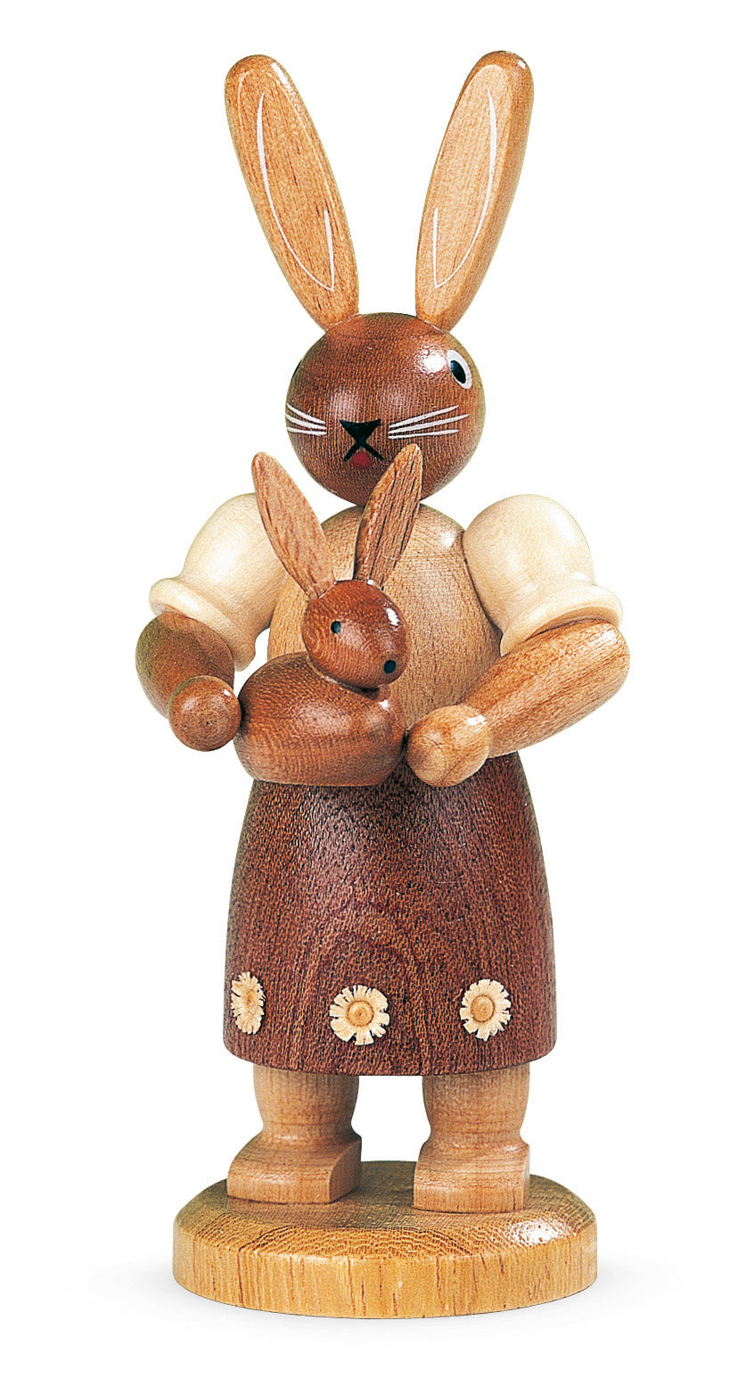 Easter bunny, female with little child