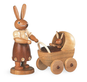 Easter bunny, female with buggy