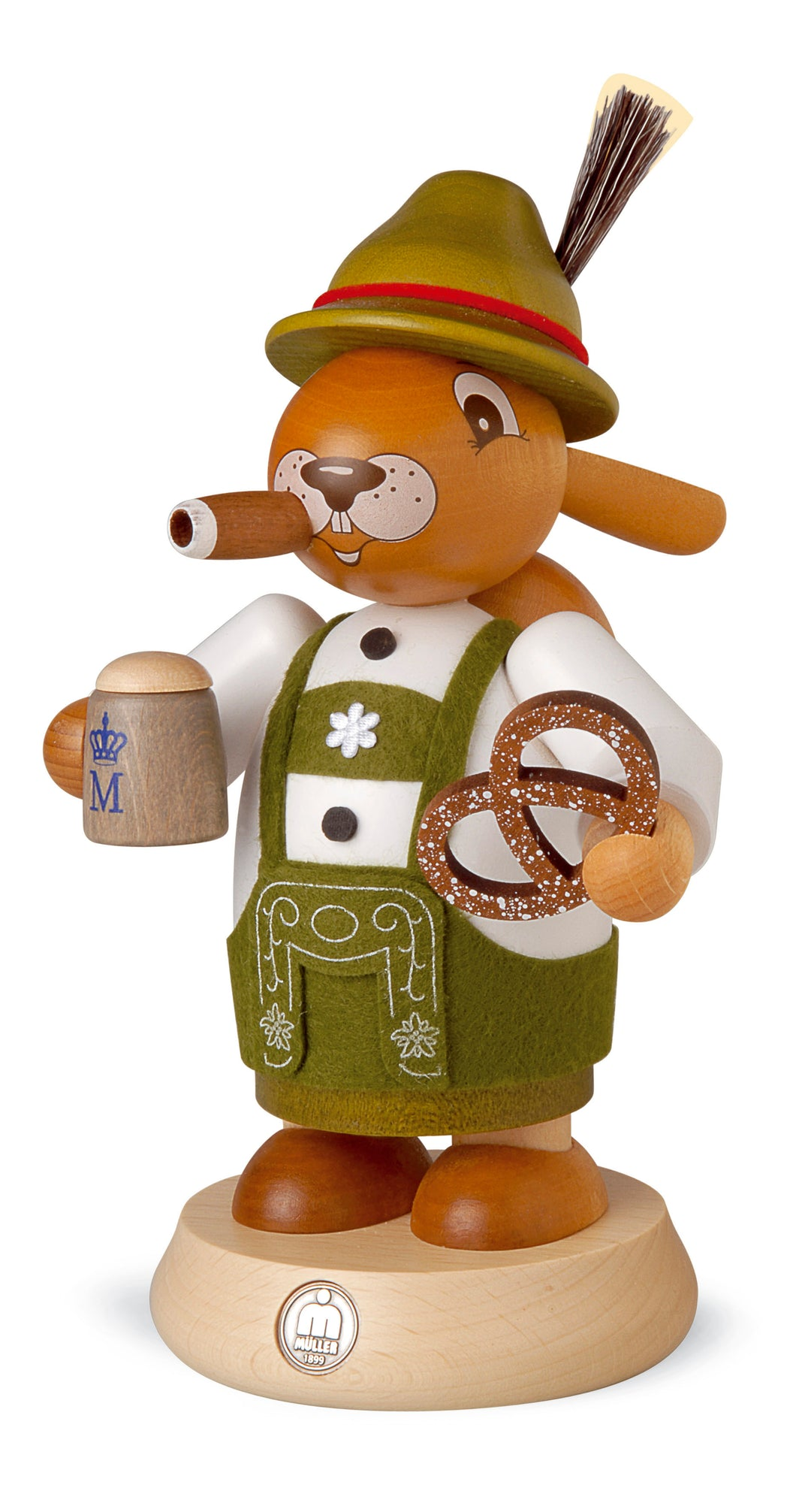 Smoking man Easter bunny, Bavarian