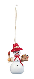 Christmas tree decoration, Snowman female painter