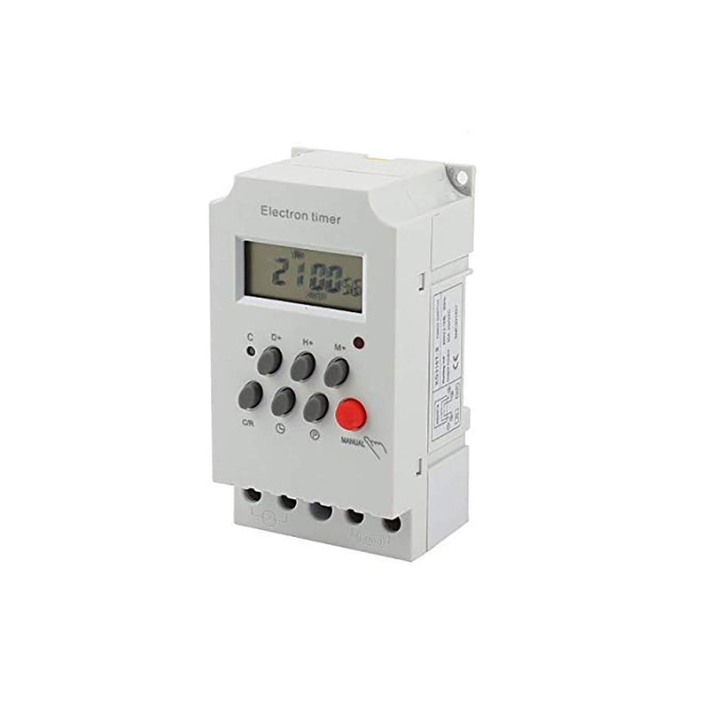 Quick Sense(Qs-T10): Digital Electronic Timer Switch 220V 25Amp DIN Rail Programmable
