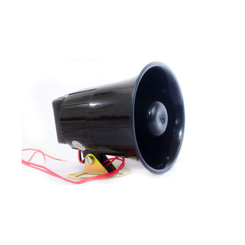 Quick Sense (Qs-H1) Plastic 220v -118 DB Hooter Security Alarm for Securities, Loud Sound -300-400 m