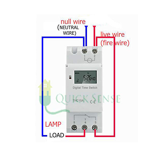 Quick Sense (Qs-T3): Din Type Digital Timer Controller-Programmable for Daily/Weekly- Pulse Setting-Count Down