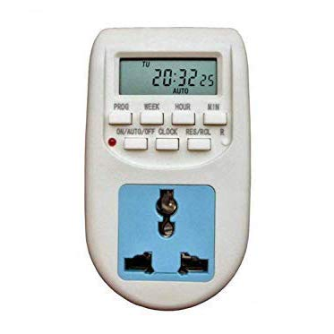 Timer Switch(Qs-T1): Digital Programmable Electronic Timer for Mobile and Laptop Charging, Lighting Control