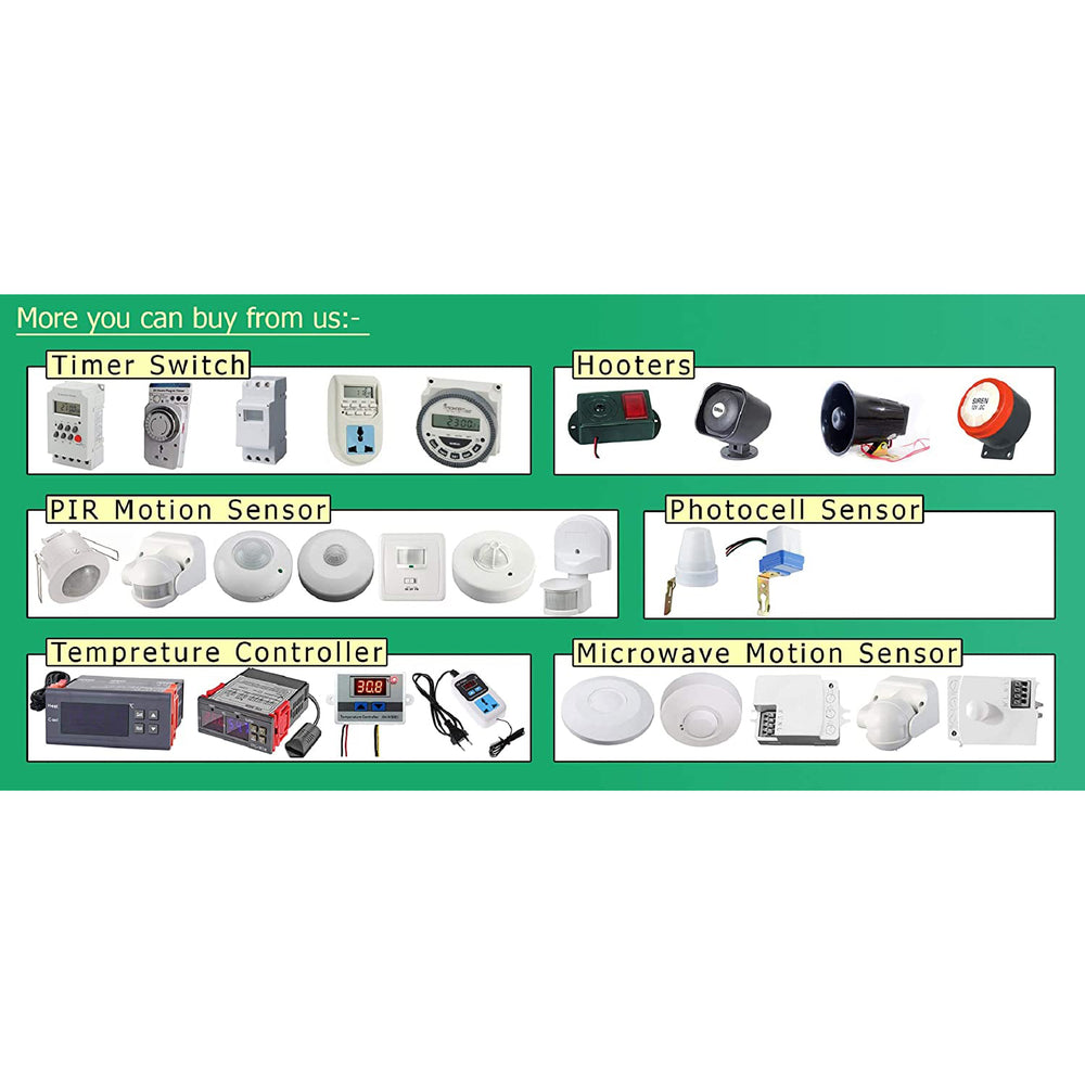 Quick Sense (QS-H3): 220v -118 DB Hooter Security Alarm with flasher for Bank Loud Sound Direct