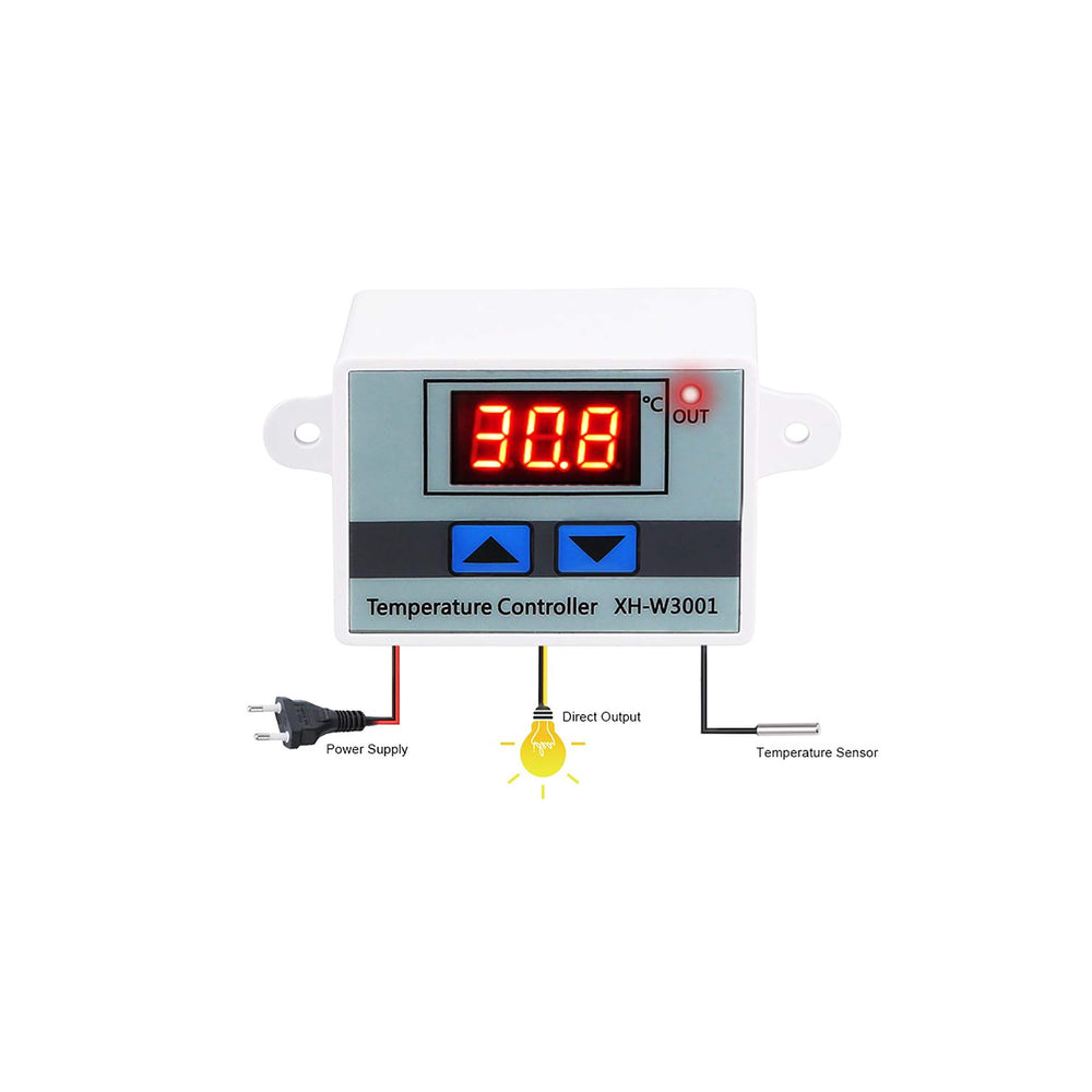 Quick Sense(Qs-Tc01): Digital 230V AC LED Digital Temperature Controller with Thermocouple Sensor