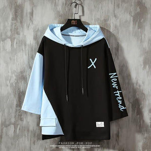 """X-New Trend"" Elbow Sleeve Lace-Up Hoodies"