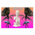 Vaporwave Poster Statue & Dolphin