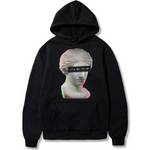vaporwave hoodie emotional quote