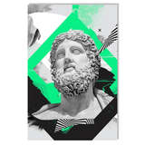 vaporwave poster statue abstract