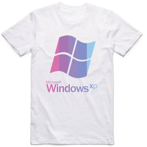 vaporwave shirt windows xp