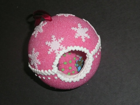 Pink Sugar Ornament